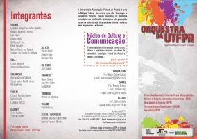 Folder da orquestra UTFPR by buggyme
