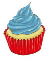 cup cake by JuliaLin