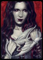 ACEO -- The Demon Queen by ElvenstarArt