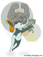 Midna and Wolf Link by Isi-Daddy