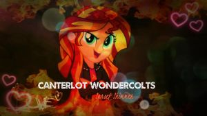 Sunset Shimmer EG Wallpaper by mumble76