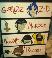 Hand-painted Gorillaz Dresser WIP 2 by crazycatlady46