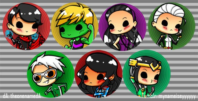 Young Avengers Buttons by TheonenamedA
