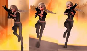 Explosion MMD by SimmerElsa