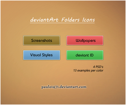 deviantArt Folder Icons by Paulo1471