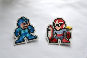 Megaman and Protoman Pin Set by HopperARTZ