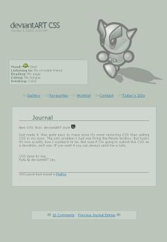 Free CSS Journal: dA Style by Nicasus