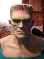 frankenstein bust by sculptart31