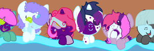 Cotton Candy babies v.2 by Theedgeofart