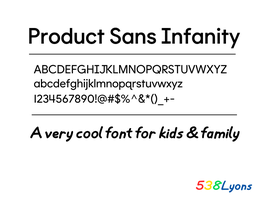 Product Sans Infanity by DLEDeviant