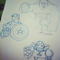 Avengers Sketch by PWG44