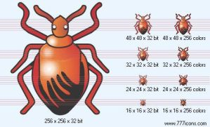 Bug Icon by medical-icon-set