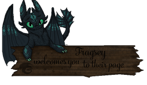 Fragsey - Welcome Sign by therealtwilightstar