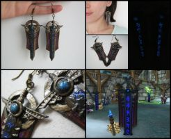 Ebon Blade earrings by GemDeDude