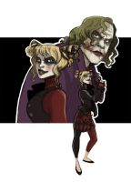 The Joker and Harley -TDK- by kyla79
