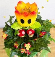 Closeup Super Mario Bouquet by crokittycats