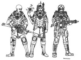 Imperial Army Troops. by TenebraesRising