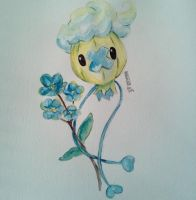 Drifloon with Forget Me Nots by your-undead