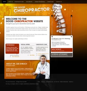 Chiropractor design template 2 by jpdguzman