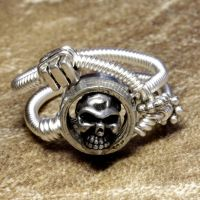 Steampunk Ring Skull 2 by CatherinetteRings