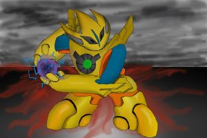 deoxys golden armor by Anoebis
