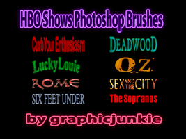 HBO Shows Photoshop Brushes by graphicjunkie
