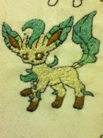 .:Leafeon Embroidery:. by EmbroideryMW101