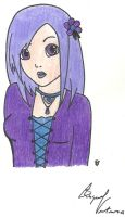 Anime.:.Girl.:.Purple and Blue by FamilyGayFanGirl