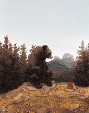 Speaking With a Giant Bear