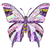 buterfly of purple. by Exiled-From-Life
