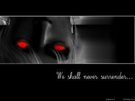 We shall never surrender by Elise-Lucy