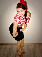 Pin Up Girl 2 by Klaudiqa-scarry-doll