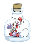 Kitty bottle :Whispur: by Luckynight48