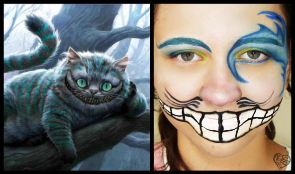 Cheshire Cat Halloween MakeUp by rockin-vs