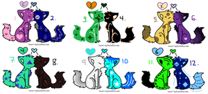 Cute Cat Adoptables-Breedables by xxBrandy