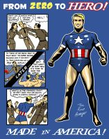 Heroes are Made in America by ninjaink