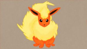 Flareon - Wii U drawing by Duskysunset