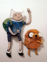 Paper Quilling - Adventure Time - Jake and Finn by wholedwarf