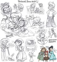 Patchwork Sketch Dump by LambityMoon
