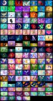 Sailor Moon and Winx Club wall by RoseXinh