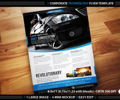Corporate Technology Flyer Template by deiby