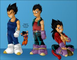 Vegeta's evolution part 3 by Sajren91
