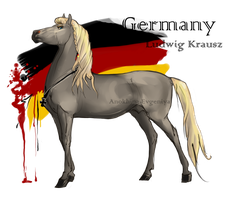 Horse Hetalia: Germany by Moon-illusion