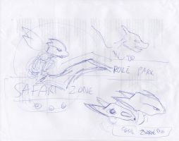 Poke Park Concept Sketches by joshthecartoonguy