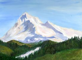 Snowy mountains by Shells124