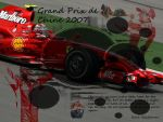 Wallpaper Kimi Raikkonen 1 (2007) by MissKettyDesigns