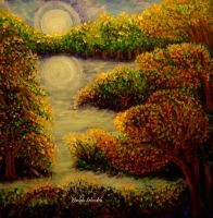 The Autumn Moonlight by zhaleh