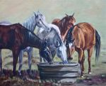 watering Horses by Wulff-Arts