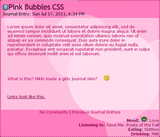Pink Bubble Journal Skin by nikkittie
