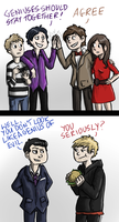 The Doctor meets Sherlock by Fonora